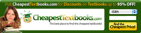 CheapestTextbooks.com Banner 1.